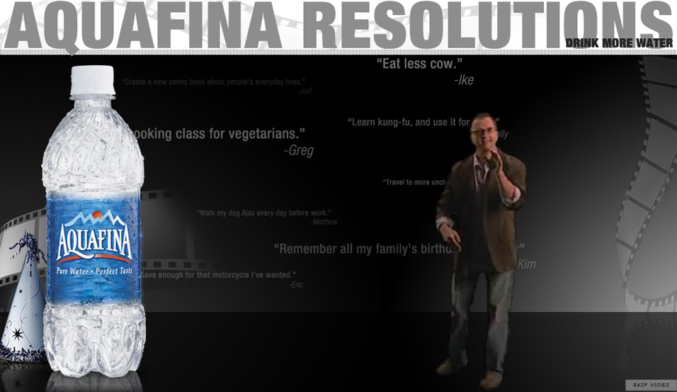 Aquafina: Resolutions on Film: introducing the film director