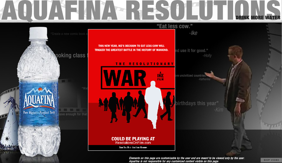 Aquafina: Resolutions on Film: customized poster