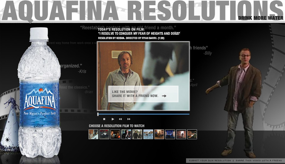 Aquafina: Resolutions on Film: share movie with friends